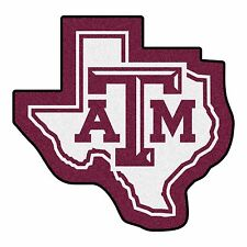 Texas A&M Aggies Mascot Decorative Logo Cut Area Rug Floor Mat