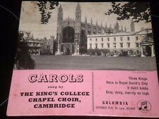 "The Kings College - Chapel Choir - Carols - Vinyl Record 7"" Single - SEG 7739"