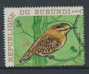 Burundi - 1970, 3f Winter Wren, Bird stamp - MNH - SG 540