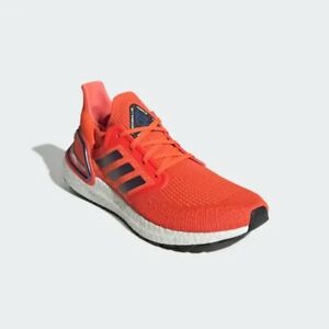 Men's adidas Ultraboost 20 Running Shoes Solar Red Size 12