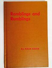"Signed MACK SAUER Book "" Ramblings and Rumblings ""  U.S.S. MISSOURI + DUST COVER"