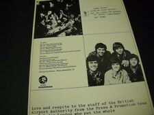 Osmond Brothers now leaving for Germany on Monday. 1972 Promo Display Ad mint