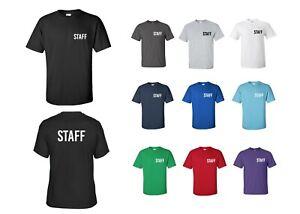 Staff T-Shirt Back & Front Print Bar/Hospitality Workwear Business Tee