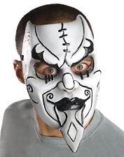 Scary Creepy Black White Venetian Harlequin Jester Tragedy Halloween Mask Mens