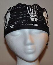 Glow in the Dark Bones Men's Scrub Cap/Hat -One Size Fits Most
