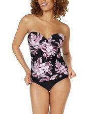 ISLAND ESCAPE Kihei Fiji Bandini Underwire Tankini Top sz 14 Purple Swimwear