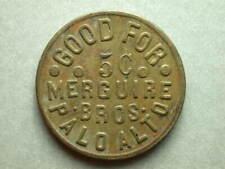Palo Alto, CA Merguire Bros. 5¢ Token
