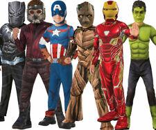 Marvel Superhero Boys Fancy Dress Costume Licensed Film Iron Man Thor Thanos Pan