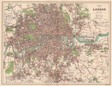 COUNTY OF LONDON. Antique town/city map plan 1893 old chart