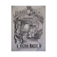 Mass Victor the Wedding of Jeannette Opera Piano Singer 1860 Sheet Music
