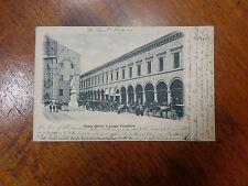 CARTOLINA BOLOGNA PIAZZA GALVANI LOGGIE VIAGGIATA  DEL 1899 SUBALPINA AAA