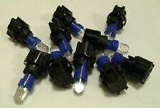 10x Blue LED & Sockets Dash Instrument Panel Light Bulb T5 70 73 74 Fits Honda