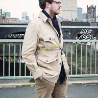 Vintage Hunting Safari Jacket Waterproof Multi-pocket Men's Workwear Casual Coat