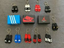 Fashion Mini 3D Handcrafted Pair Slipper Keychains USA Seller