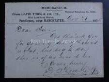 Pendleton David Thom & Co, Whit Lane Jabón obras C1905 enteros postales Pc