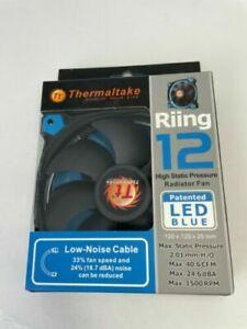 Thermaltake 12 Series 120mm High Static Blue LED Ring computer Case Radiator Fan