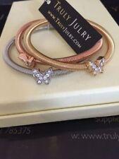 Modeschmuck-Armbänder aus Rosegold mit Strass für Damen