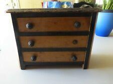 Petit meuble de poupée commode à tiroirs ancienne en bois