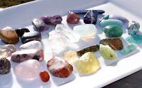 Crystal Starter Kit - Chakra Stones Reiki Raw Gemstones Tumbled Healing Crystals