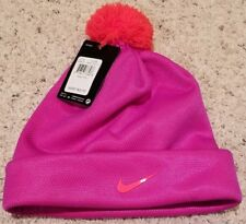 New Nike Girls Stocking Hat Size 7-16 Pink/ Orange
