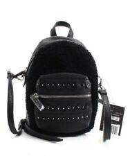 DANIELLE NICOLE $68 NWT Black Faux Minx Fur Mini Backpack Conversion Crossbody