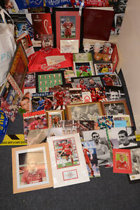 JOB LOT LIVERPOOL FOOTBALL SIGNED SHIRT/PHOTO/BOOK/LP