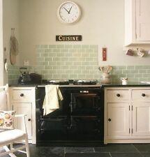 TILE SAMPLES: London Bevelled Celery Green Gloss Metro Bathroom Tiles 10 x 20cm
