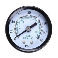 "Metal 1/8"" 160 Psi 10Bar Compressor Compressed Air Pressure Gauge E0Xc"