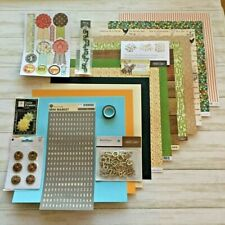 Studio Calico Collection Lot 12 Sheets Paper Embellishments Buttons Stickers