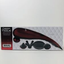 Wahl Handheld Deep Tissue Percussion Massager Therapeutic Variable Intensity Red