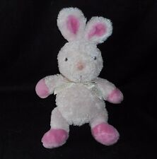 "9"" CARTER'S BABY PINK BUNNY RABBIT JUST ONE YEAR STUFFED ANIMAL PLUSH TOY LOVEY"
