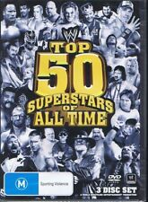 WWE - Top 50 Superstars Of All Time (DVD, 2011, 3-Disc Set) - Region 4