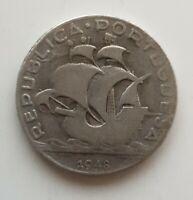 Portugal / 5 Escudos / 1948 / 0.650 SILBER / KM#581