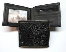 Montana West® Tooled Leather Western Billfold Wallet - Black