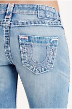 NWT TRUE RELIGION Jeans Low Rise Destructed Billie Super T Straight Jean 32 X 32