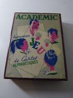 académic , jeu de cartes alphabétiques  (car15)