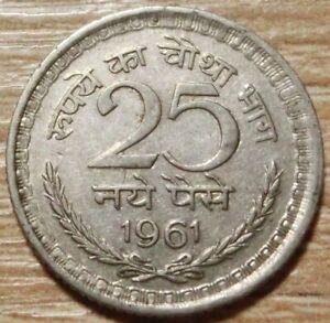 Indien  25  Paise  1961