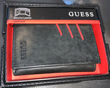 New Black W/Chilli Pepper Guess Trifold Wallet