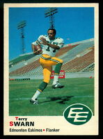 1970 OPC O PEE CHEE CFL FOOTBALL 57 TERRY SWARN NM EDMONTON ESKIMOS COLORADO STE