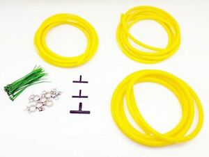 AUTOBAHN88 Engine ROOM Silicone Air Vacuum Hose Dress Up Kit YELLOW Fit JDM