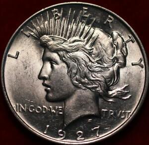 Uncirculated 1927-D Denver Mint Silver Peace Dollar