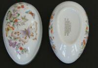Vintage Avon 1974 Butterfly Porcelain Egg 22K Gold Trim Mother's Day gift