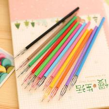 UK 12pcs/set Novelty Colorful Gel Ink Pen Refill School Supplies New Stationery