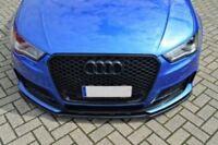 Front Bumper Lower Skirt For Audi RS3 8V Lip Chin Valance Splitter appron