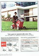PUBLICITE ADVERTISING 116  1966   Rugg   tondeuse gazon