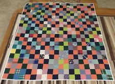 USA Made Twin Size Quilt -4 Patch- New Quilt from Vintage Top 67 x 76