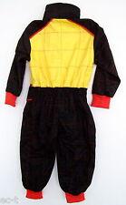 Kinderoverall für künftigen Rennfahrer - 1 Jahr - schwarz/rot/gelb