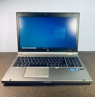 "HP EliteBook 8570p 15.6"" 180GB ssli state  Core i7 2rd Gen 8GB WIN 10"