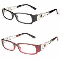 Various Strengths Women Fashion Reader Clear Lens Designer Reading Glasses New