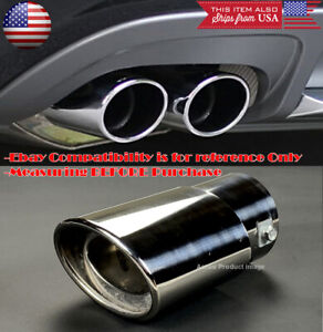 "OE Polished Stainless Steel Exhaust Muffler Tip For Hyundai Kia 1.5-2"" Pipe"